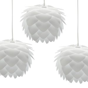 wandlamp beliani plafondlamp   set van    wit   incl fittingenset   andelle mini
