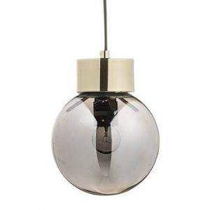 hanglamp bloomingville glas staal transparant zilver