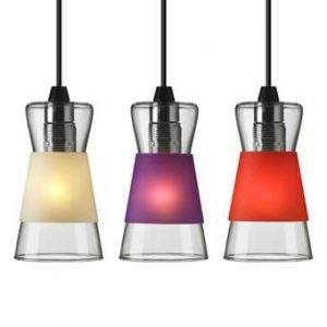 hanglamp authentics glas paars rood