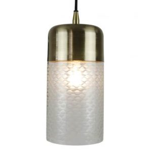 hanglamp home delight glas metaal messing