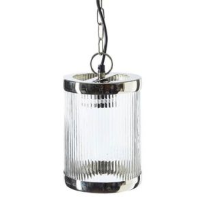 hanglamp rivièra maison glas metaal staal transparant zilver